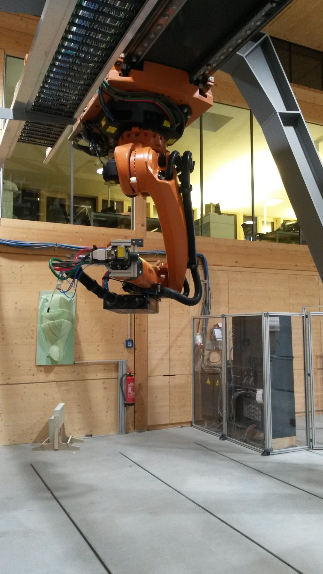 Installing A Kuka Quantec Ceiling Mounted Industrial Robot